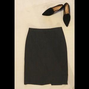 Ann Taylor 100% wool pencil skirt